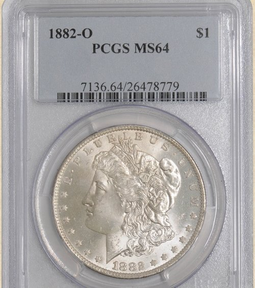 3Z: 1882-O Morgan $ MS64 PCGS