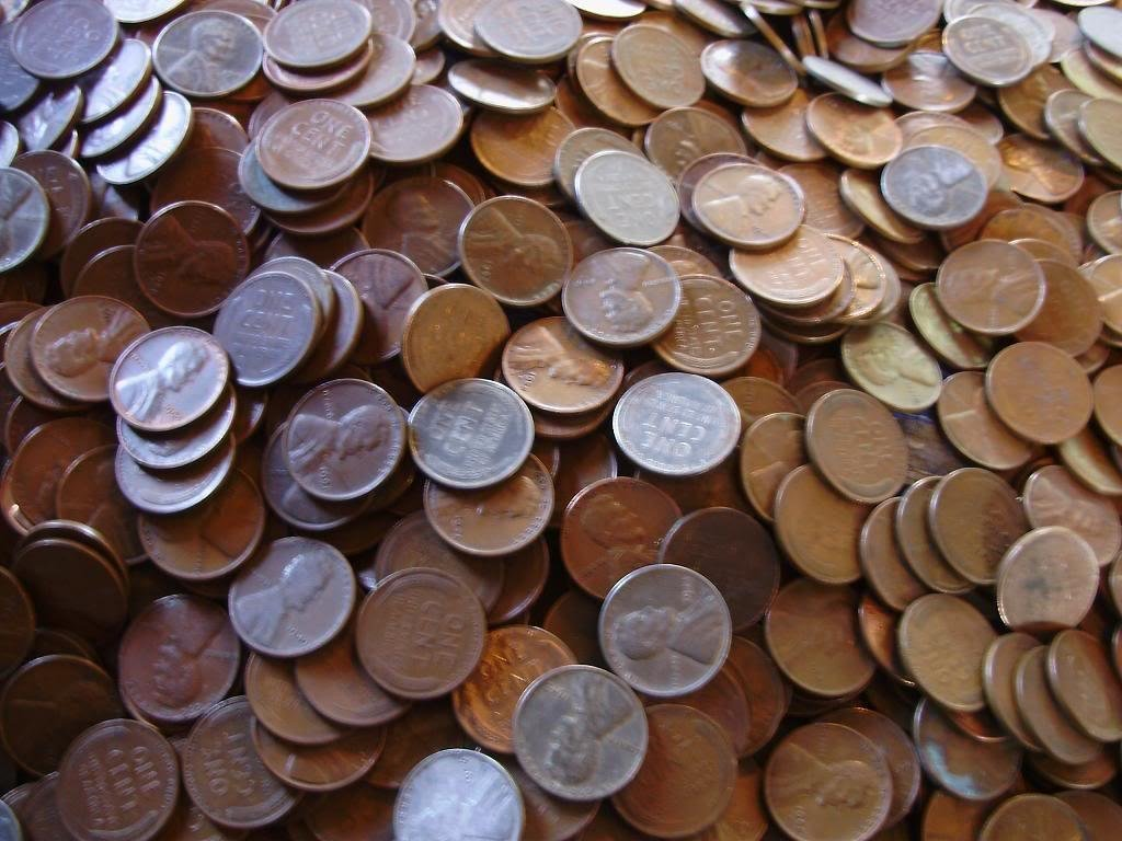 5S: Lot of 300 Wheat Cents-