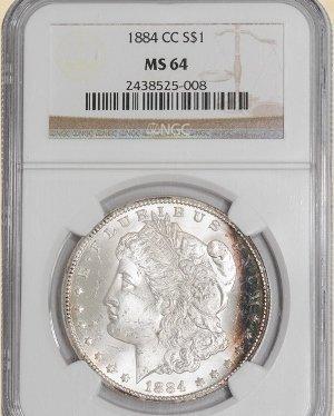 1Z: 1884-CC Morgan $ MS64 NGC Color