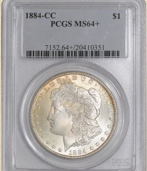 3Z: 1884-CC Morgan $ MS64+ PCGS