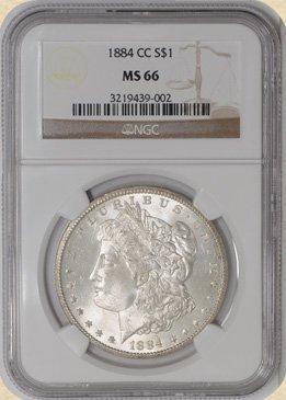 6Z: 1884-CC Morgan $ MS66 NGC