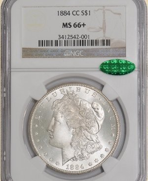 9Z: 1884-CC Morgan $ MS66+ NGC