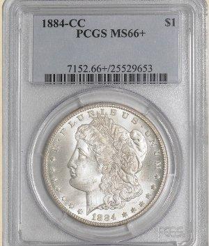 10Z: 1884-CC Morgan $ MS66+ PCGS