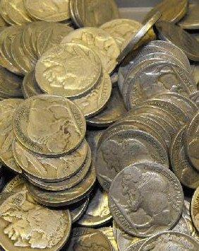 2: Lot of 75 Buffalo Nickels-