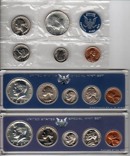 8S: 1965-6-7 Special Mint Sets