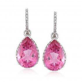 3R: 13.00 ct. t.w. Pink Topaz and .12 ct. t.w. Diamond