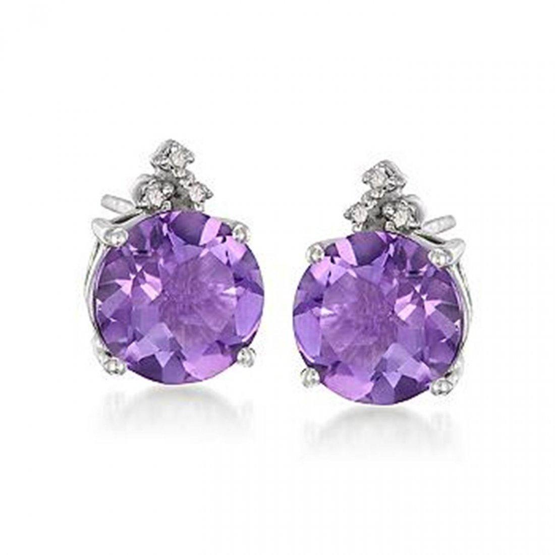 13R: 3.60 ct. t.w. Purple Amethyst and .10 ct. t.w. Dia