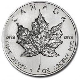 5: 1 oz Silver Maple Leaf Bullion