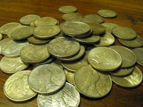 9: Lot of 20 Peace Dollars from cache