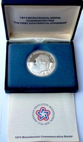 3R: RA-1974 John Adams US Mint Medal Silver