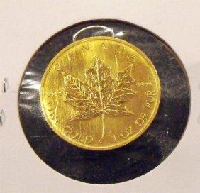 1Y: 1996 1 oz. Gold Maple Leaf Bullion