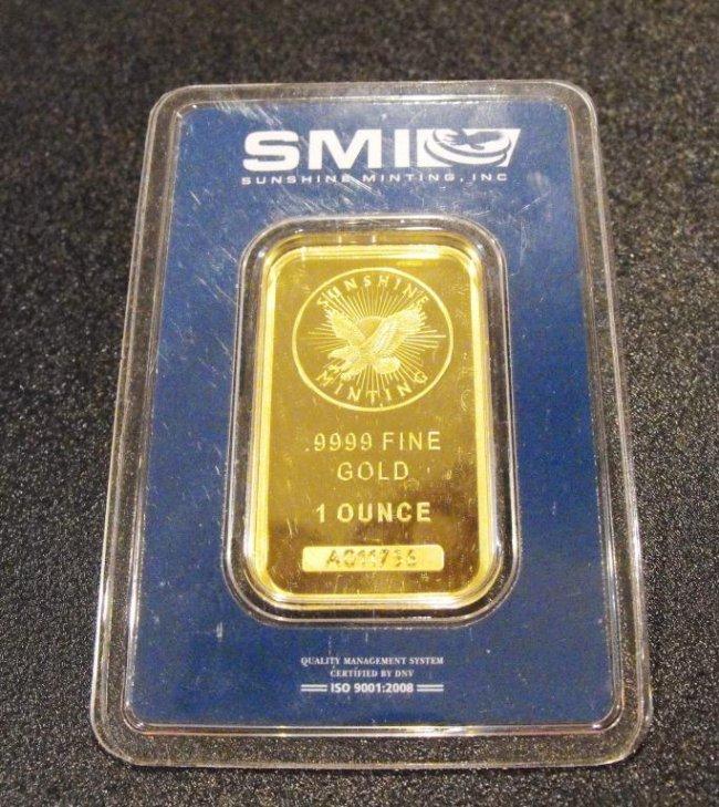 5Y: Assayed 1 Troy Oz. Gold Bullion Sunshine Mint
