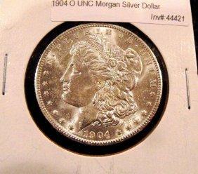 3: 1904 O UNC Morgan Silver Dollar