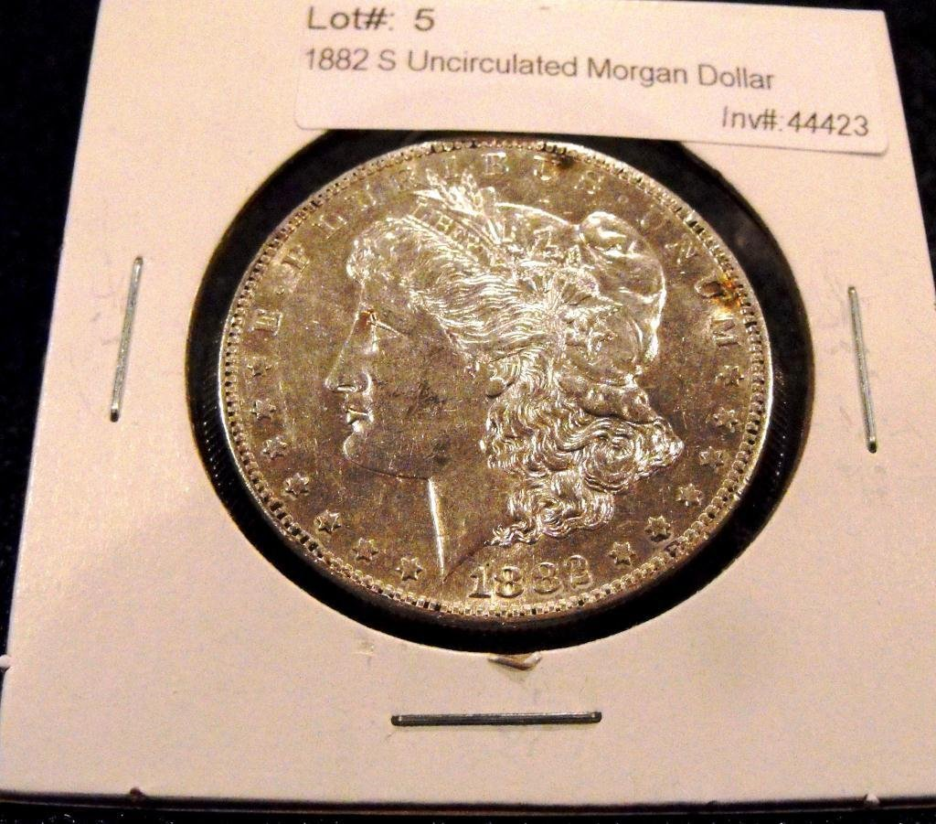 5: 1882 S Uncirculated Morgan Dollar