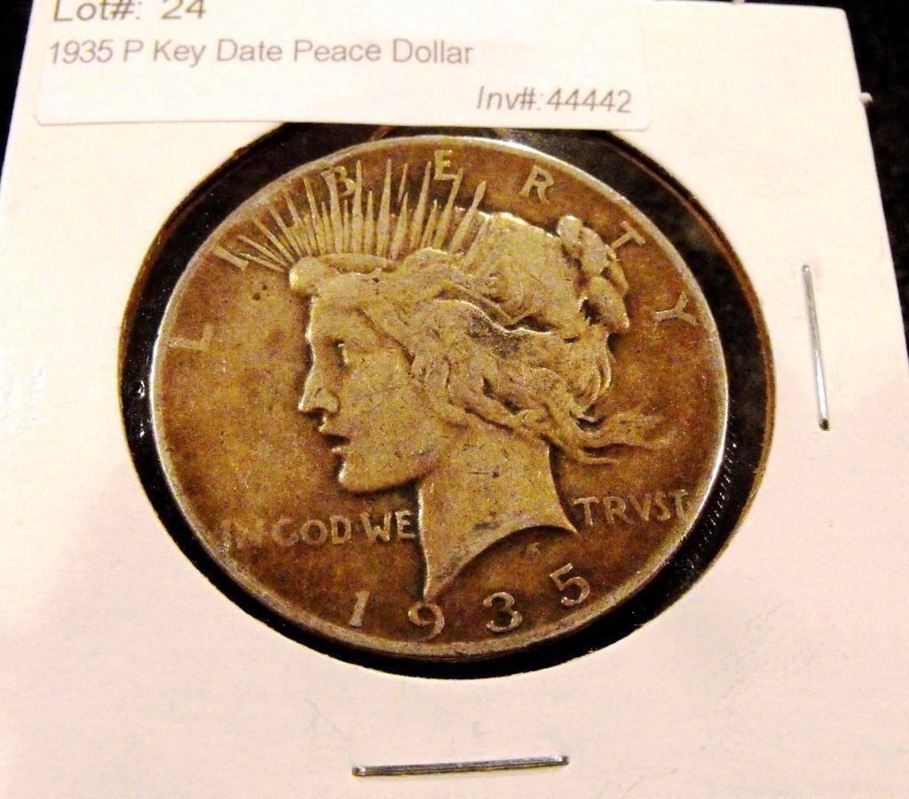 24: 1935 P Key Date Peace Dollar