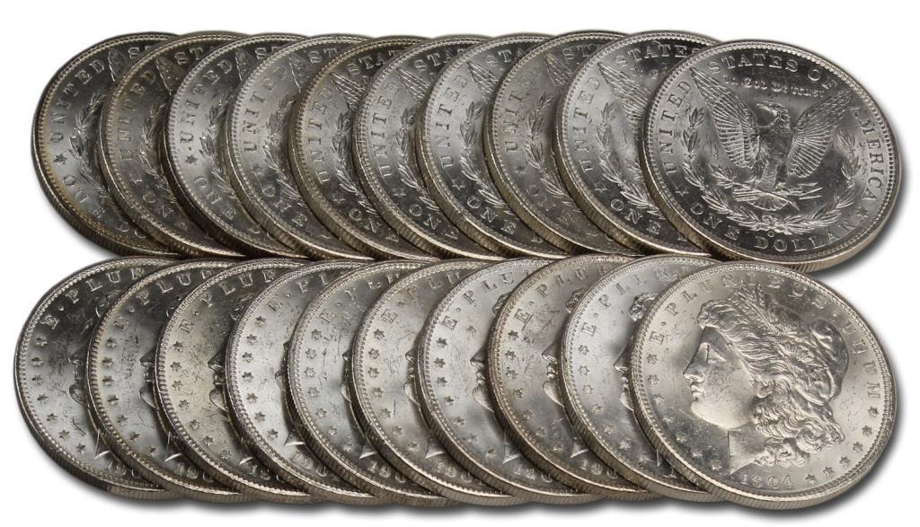 4C: 1904 O BU-UNC Morgan Silver Dollar Roll