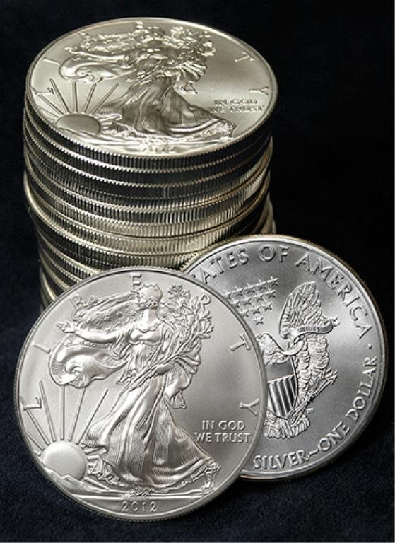 2: (20) US Silver Eagles - Various Random Dates