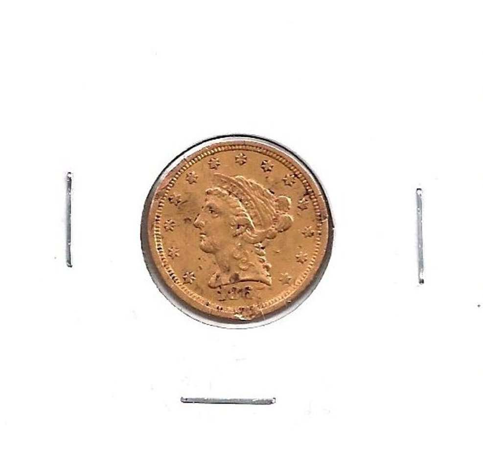 2M: 1867 S $ 2.5 Gold Liberty Head Coin