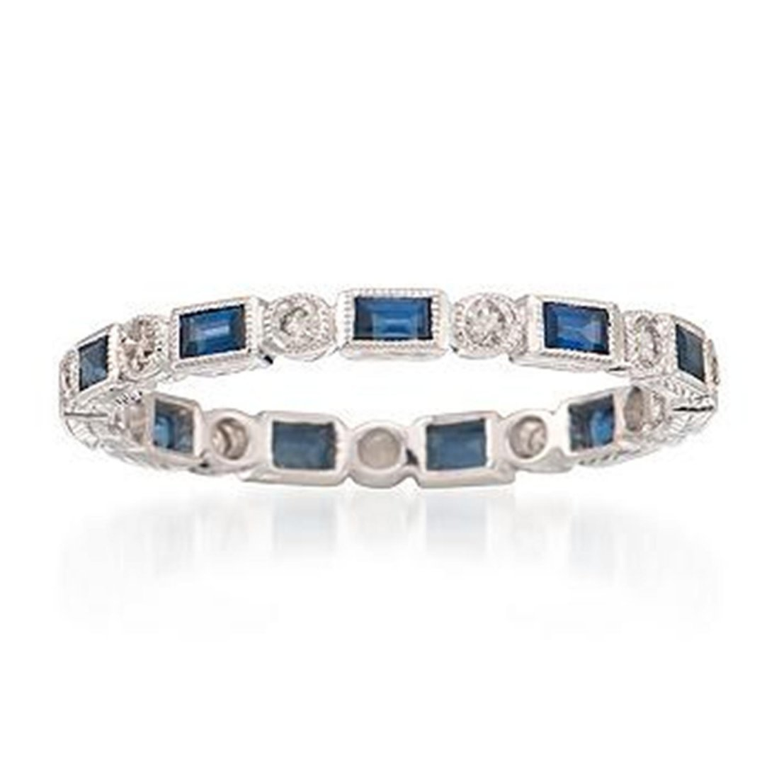 .60 ct. t.w. Sapphire and .20 ct. t.w. Diamond Eternity