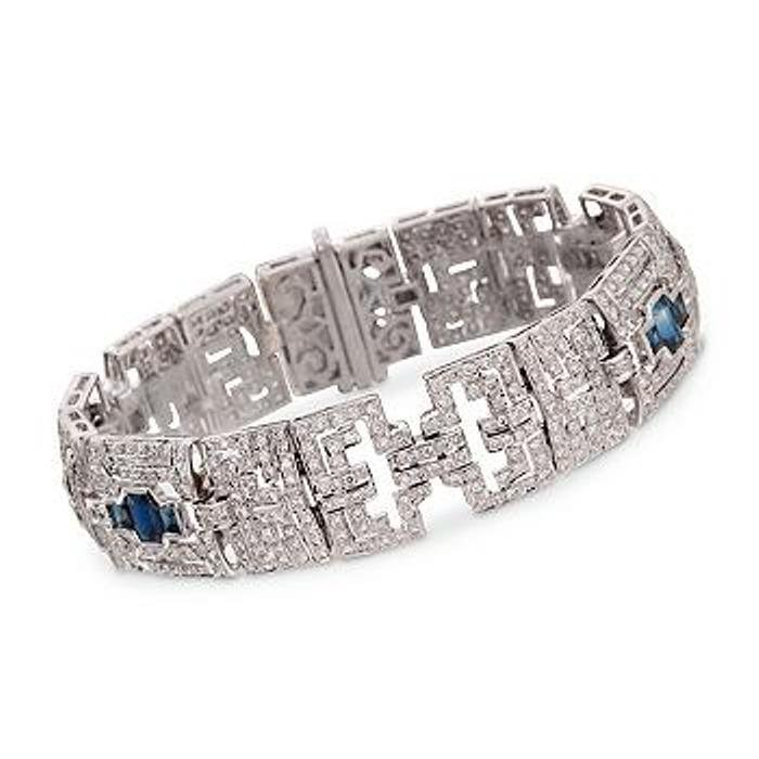 5.74 ct. t.w. Diamond and 3.71 ct. t.w. Sapphire Bracel