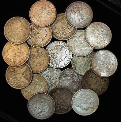 Lot of (20) Morgan Silver Dollars
