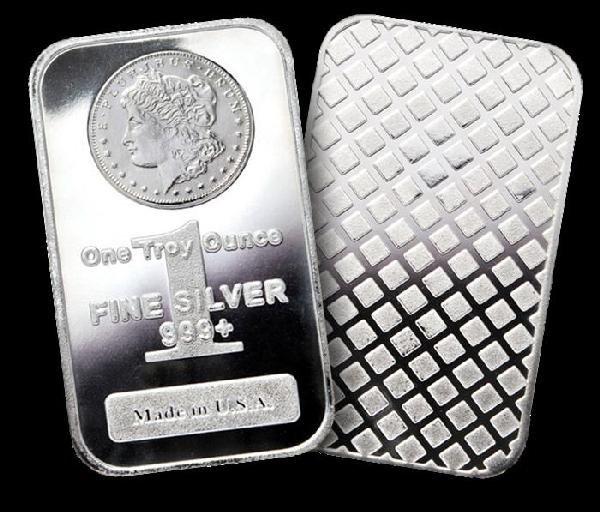 1 oz Silver bars- Morgan Design -(20)