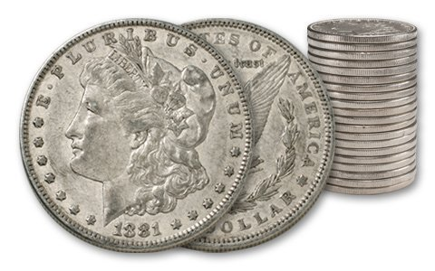 (20) Morgan Silver Dollars- AG XF