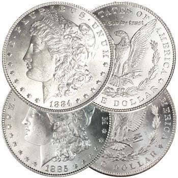 1884-1885 P BU Morgan Silver Dollar