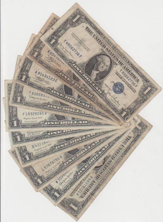 Lot of 20 Circulated Silver Certificates