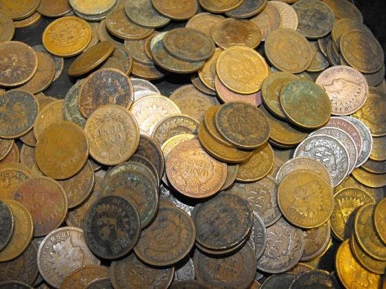 (100) Indian Head Coins from Photo