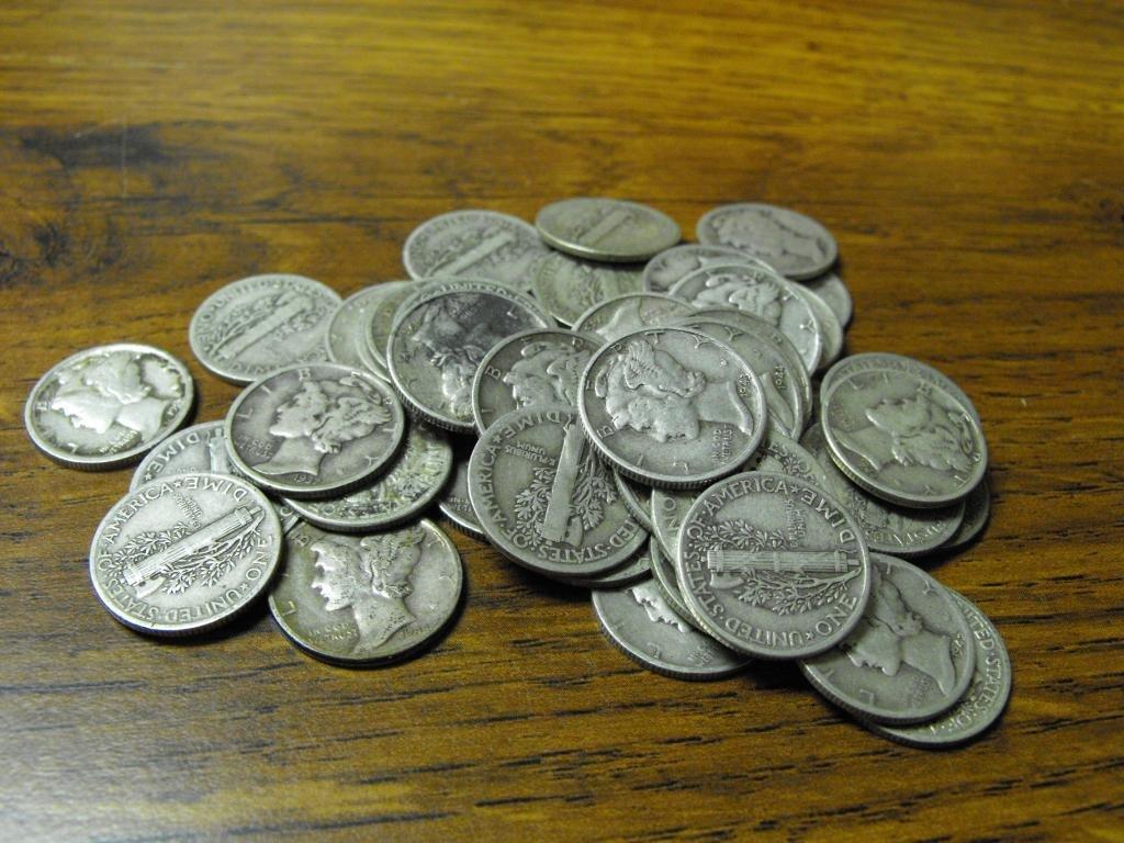 50 Mercury Dimes - Random