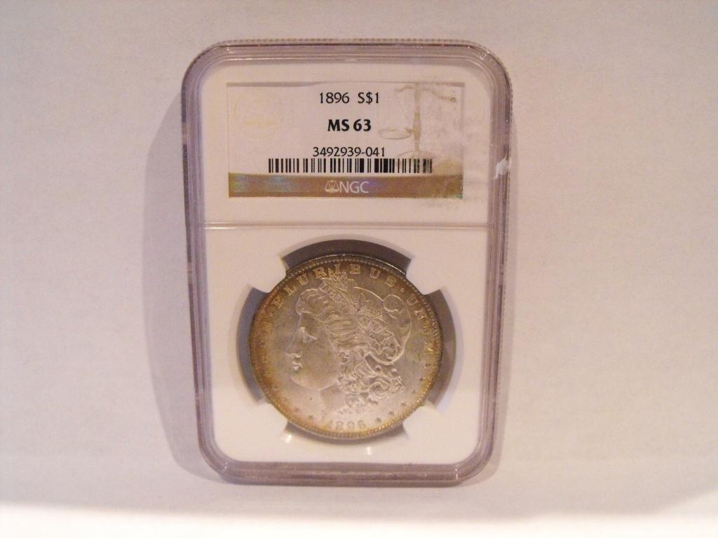 1896 p MS 63 NGC Morgan Dollar