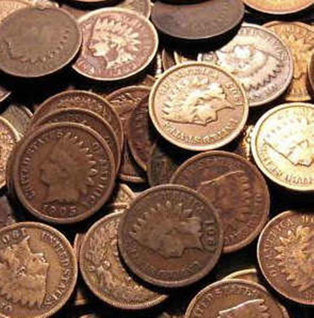 Lot of 100 Indian Head Cents-Circulated