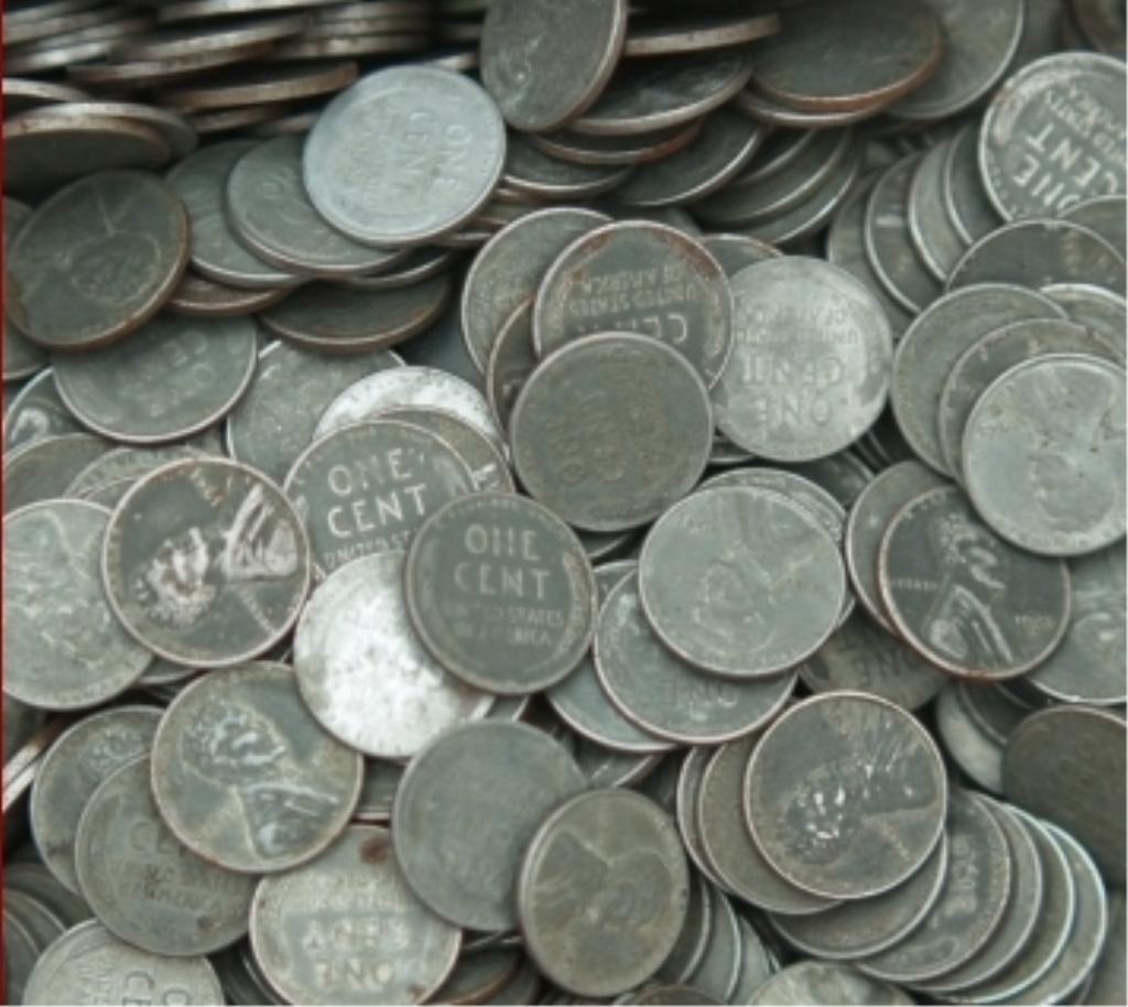 Lot of 50 Steel War Cents-