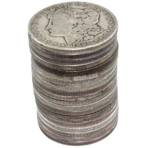 Lot of (20) Circulated Morgan Silver Dollar