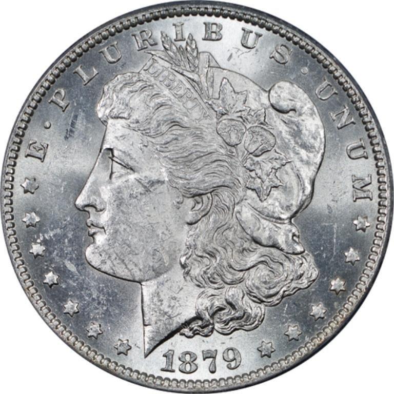 1879p ms63-5 Morgan Silver Dollar