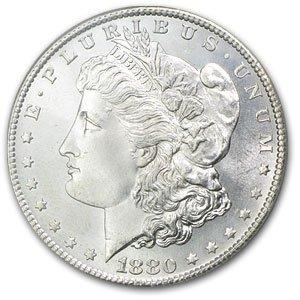 1880s ms63 Morgan Silver Dollar
