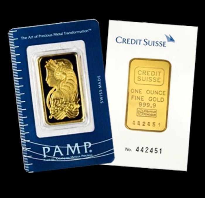 1 oz Gold Pamp / Credit Suisse or other  Ingot (1)