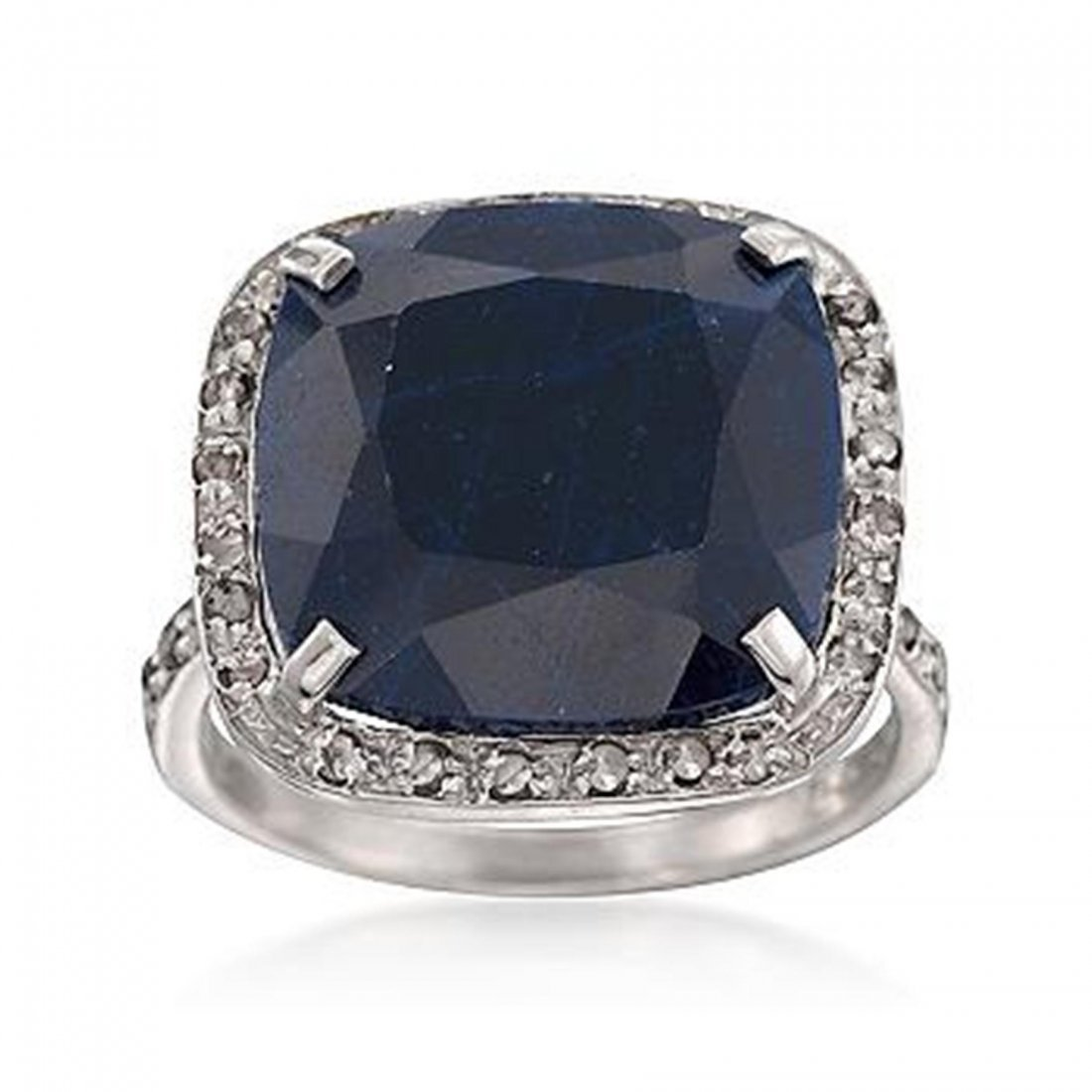 11.95 Carat Sapphire and .24 ct. t.w. Diamond Ring in S