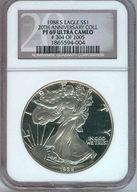 1988 S MS 69 20th ANN. Ultra Cameo Proof