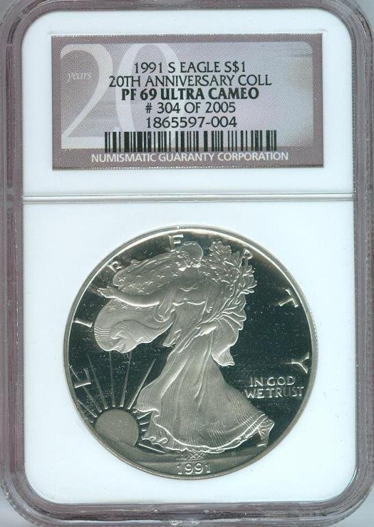 1991 s MS 69 Ultra Cameo 20th Ann.