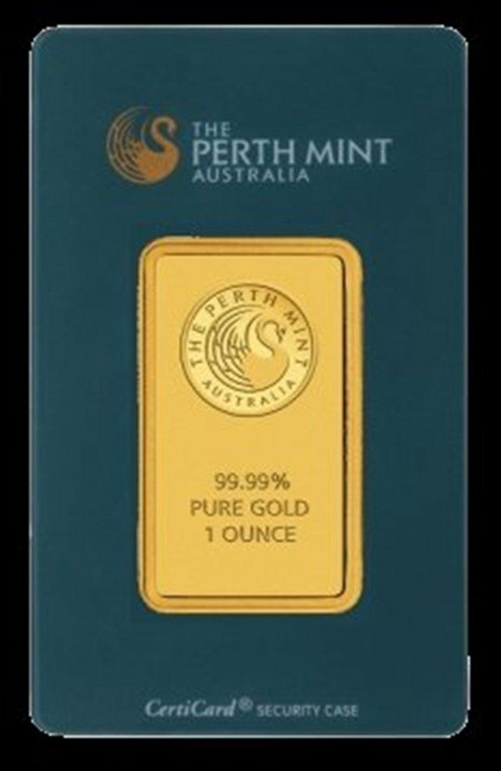 1oz Perth Gold Bar .9999 Pure