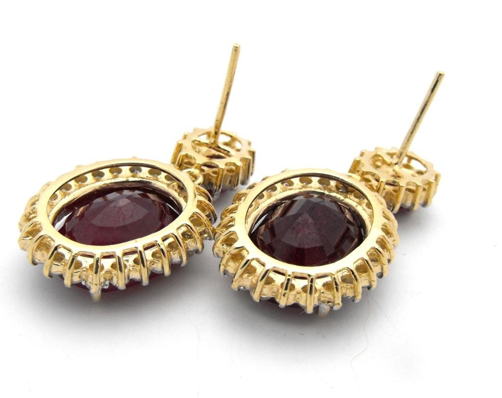 E- $21,707 Ruby & Diamond Earrings 14k YG - 4