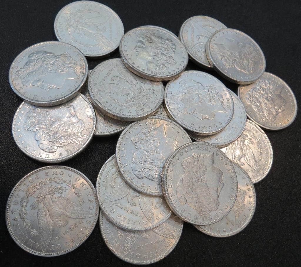 (20) Au BU Grade EXACT LOT Morgan Dollars