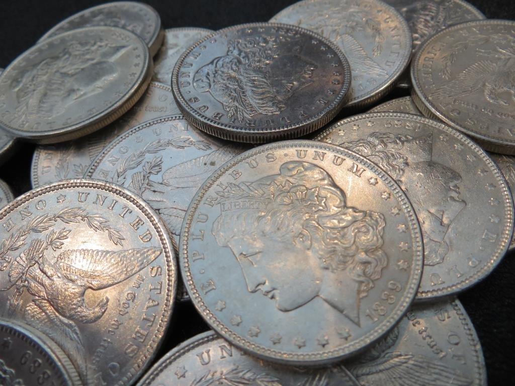 (20) AU BU Grade EXACT LOT Morgan Dollars - 2