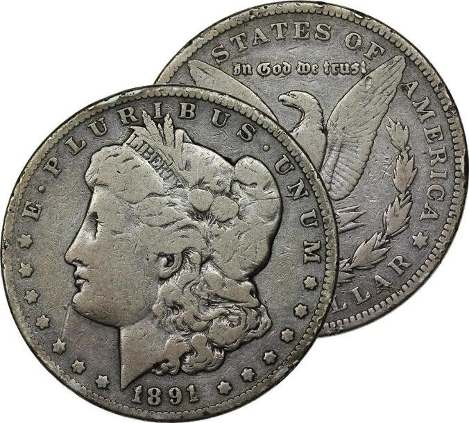 1891 O Better Date Morgan Silver Dollar