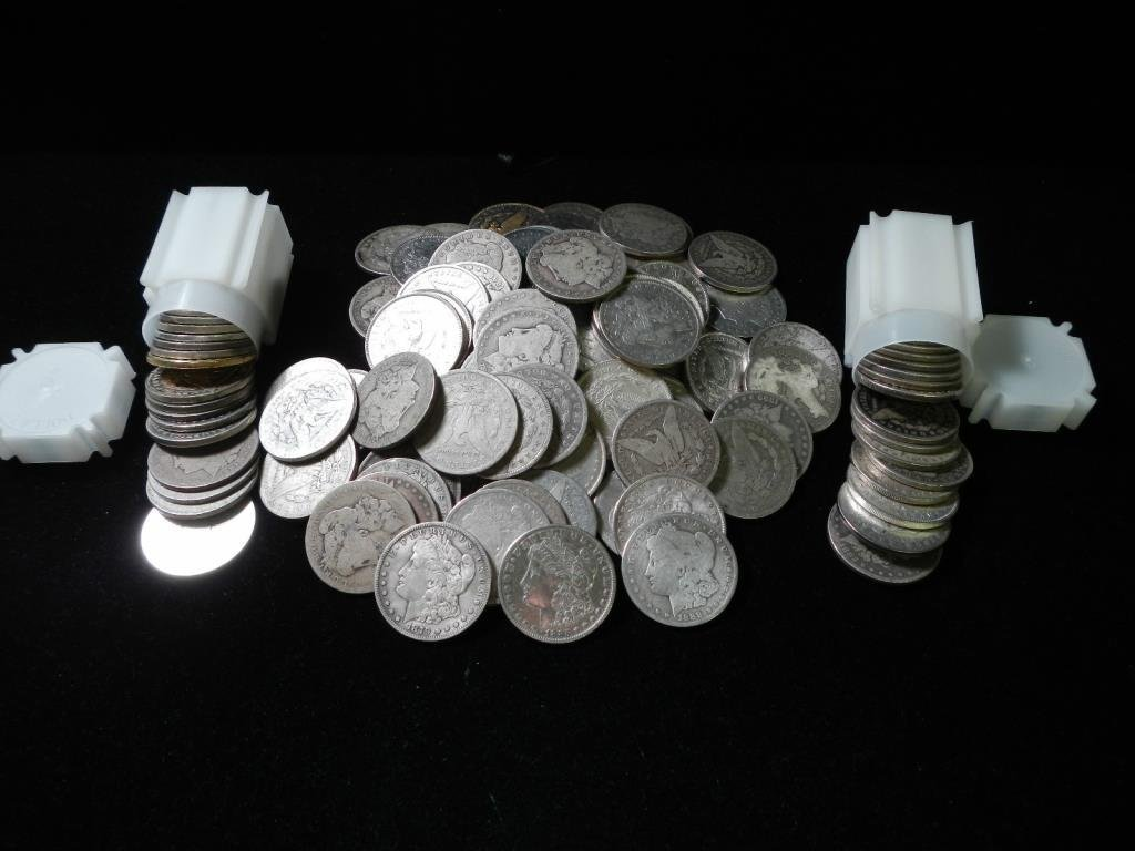 Lot of (100) Morgan Silver Dollars in Tubes