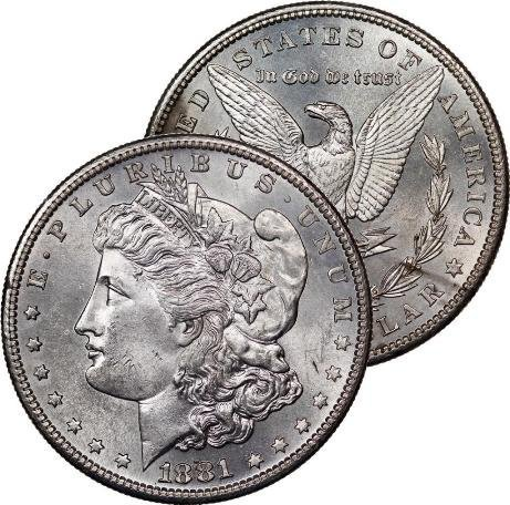 1881 S BU Morgan Silver Dollar