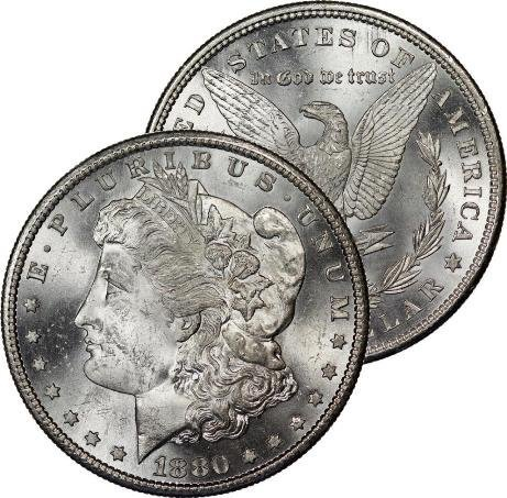 1880 S GEM BU Morgan Silver Dollar