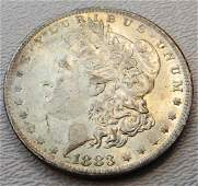 1883 O Original UNC Morgan Silver Dollar Toned